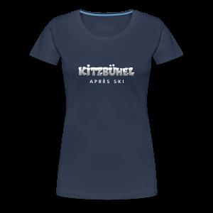 Kitzbühel Après-Ski T-Shirt (Damen Navy/Snow) - Frauen Premium T-Shirt