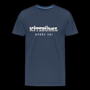 Kitzbühel Après-Ski T-Shirt (Herren Navy/Snow) - Männer Premium T-Shirt