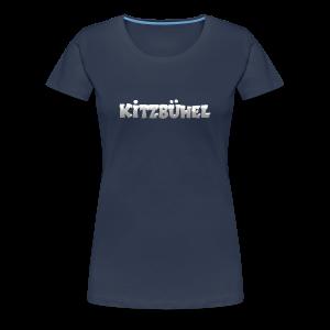 Kitzbühel T-Shirt (Damen Navy/Snow) - Frauen Premium T-Shirt