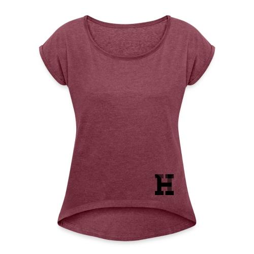 Hampe/Yes!us - T-shirt Dam - T-shirt med upprullade ärmar dam