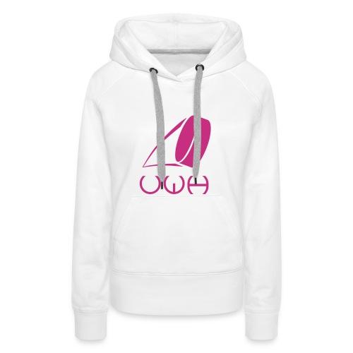 UWH Logo. Womens Hoodie - (LogoPink - frt/lg) - Women's Premium Hoodie