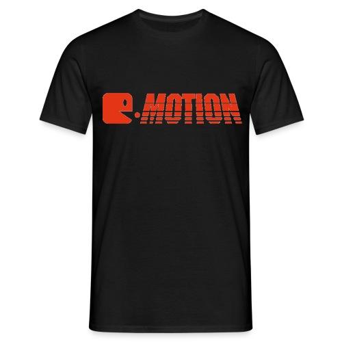 E-Motion T-Shirt Black Logo Red - Männer T-Shirt