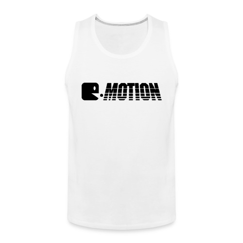 E-Motion Tanktop Men Logo Black - Männer Premium Tank Top