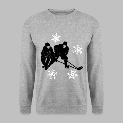 Eishockey Duell - 2 farbige Vektor-Grafik, perfekt für Foliendruck - Männer Pullover