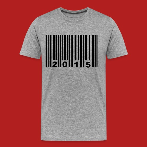 2015 bar code  - Men's Premium T-Shirt