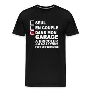 Dans le garage. - T-shirt Premium Homme