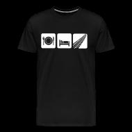 Tee shirts ~ T-shirt Premium Homme ~ Manger, rouler