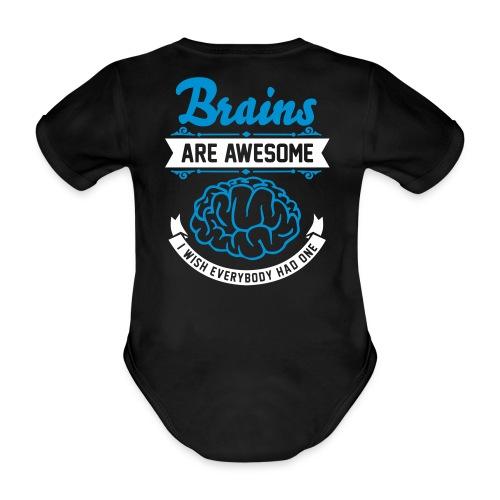 brains - Økologisk kortermet baby-body