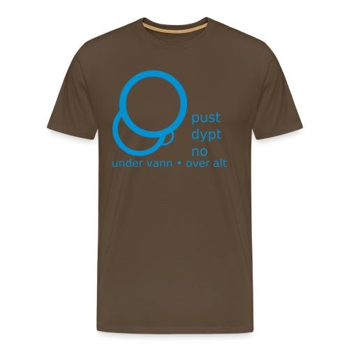 Pust dypt no klassisk t-skjorte - Premium T-skjorte for menn