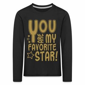 Favorite Star, Glitzer - Kinder Premium Langarmshirt