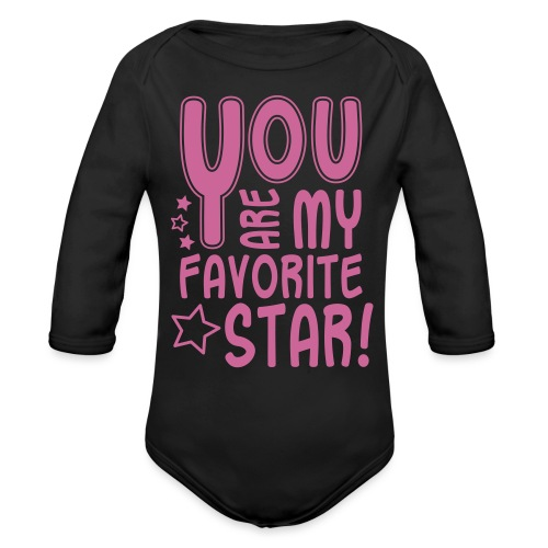 Favorite Star, Glitzer - Baby Bio-Langarm-Body