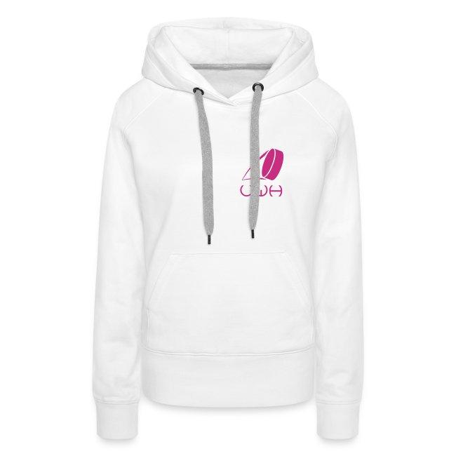 UWH Logo. Womens Hoodie - (LogoPink - frt/sm)