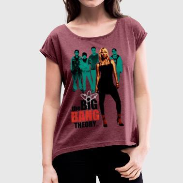 Tee shirt Femme Big Bang Theory Kaley - T-shirt à manches retroussées Femme