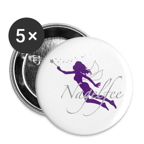 5x Button Nagelfee - Buttons groß 56 mm (5er Pack)