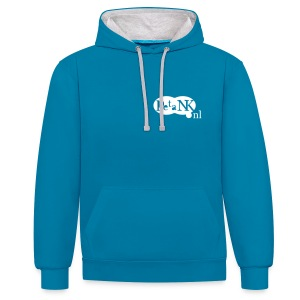 Contrast Hoodie voor hem en haar met wit logo - Contrast hoodie