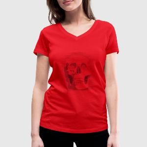 Ascii skull T-Shirts - Women's V-Neck T-Shirt