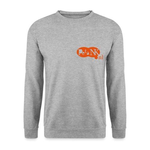 Sweatshirt voor heren met oranje opdruk - Mannen sweater