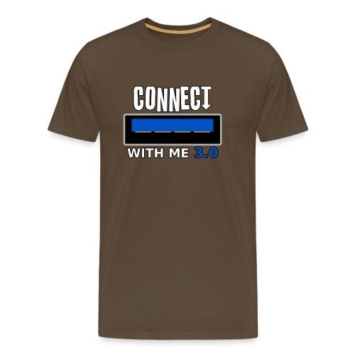 XNL TV - Connect With Me USB 3.0 - Men's Premium T-Shirt
