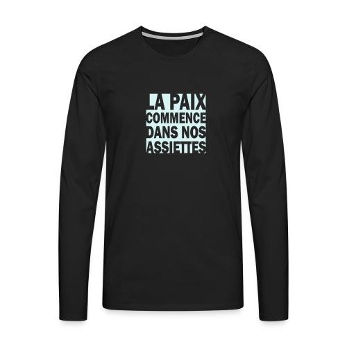 La Paix -  impress. réfléchissante - T-shirt manches longues Premium Homme