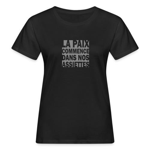 La Paix - paillettes argent - T-shirt bio Femme