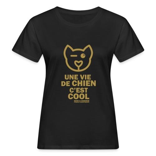 Cool - paillettes or - T-shirt bio Femme