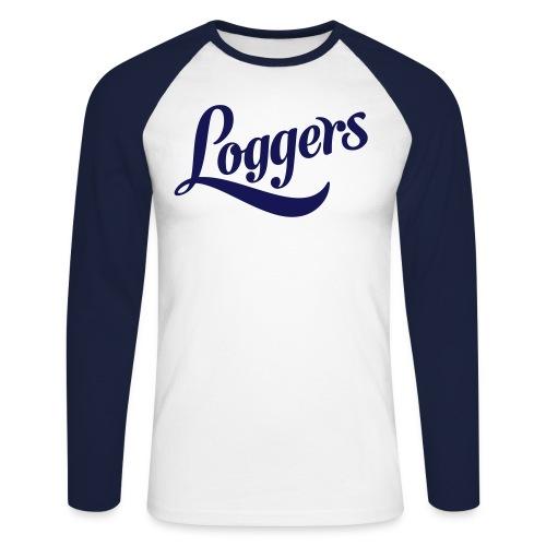 Loggers Langermet - Langermet baseball-skjorte for menn