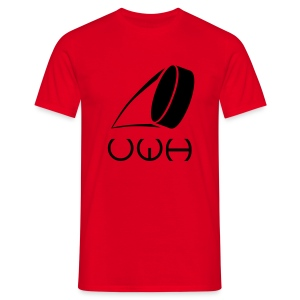 UWH Logo. Mens T-Shirt - (LogoBlack - frt/lg) - Men's T-Shirt