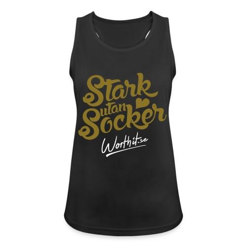 STARK UTAN SOCKER [GULDTRYCK] - Andningsaktiv tanktopp dam