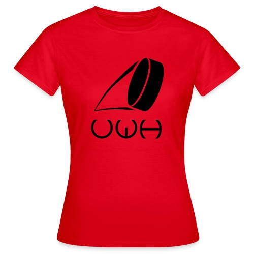 UWH Logo. Womens T-Shirt - (LogoBlack - frt/lg) - Women's T-Shirt