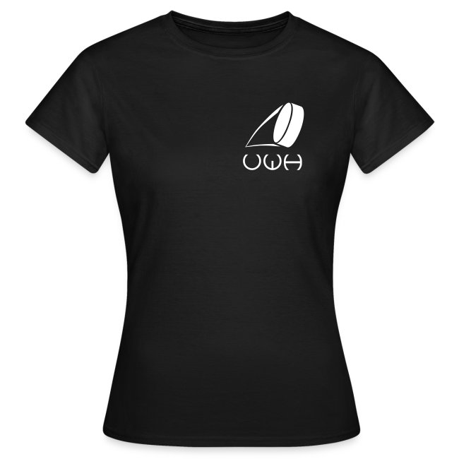 UWH Logo. Womens T-Shirt - (LogoWhite - frt/sm)