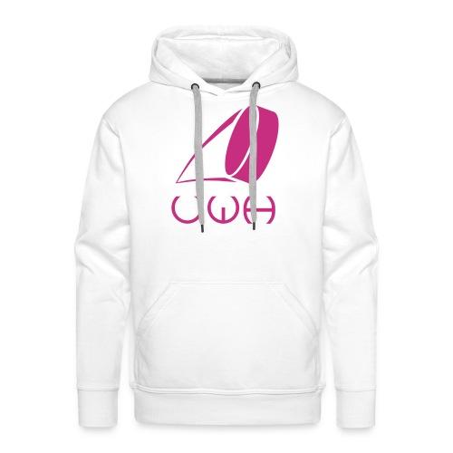 UWH Logo. Mens Hoodie - (LogoPink - frt/lg) - Men's Premium Hoodie