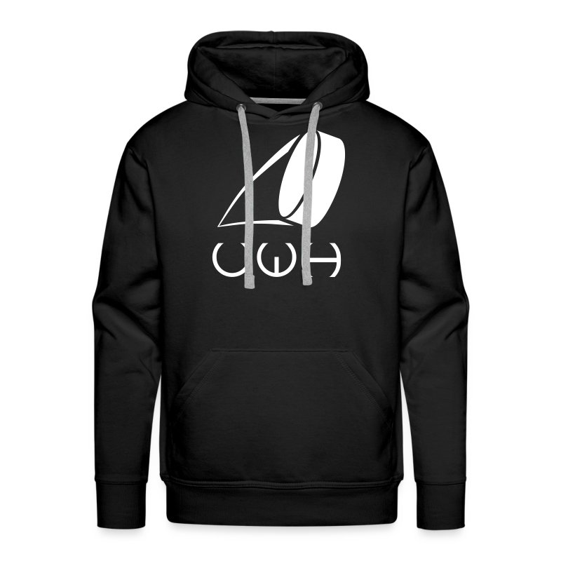 UWH Logo. Mens Hoodie - (LogoWhite - frt/lg) - Men's Premium Hoodie