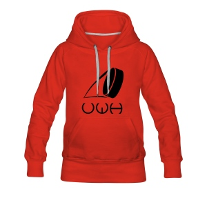 UWH Logo. Womens Hoodie - (LogoBlack - frt/lg) - Women's Premium Hoodie