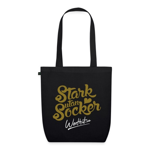 STARK UTAN SOCKER [GULDTRYCK] - Ekologisk tygväska
