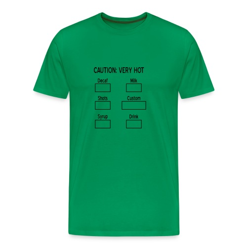 Caution: very hot - Mannen Premium T-shirt