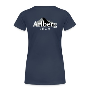 Lech am Arlberg T-Shirt (Damen/Navy) Rücken - Frauen Premium T-Shirt
