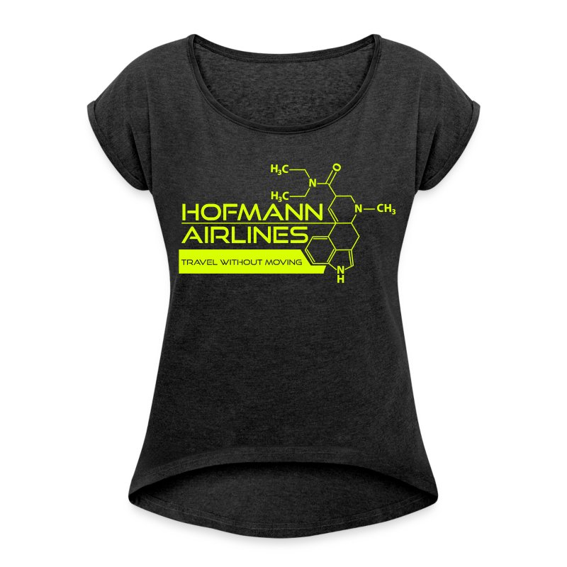 Hofmann Airlaines Women's T-shirt with rolled up sleeves - Women's T-shirt with rolled up sleeves