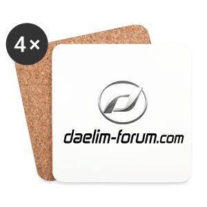Untersetzer mit Daelim Logo und Forum URL - Untersetzer (4er-Set)