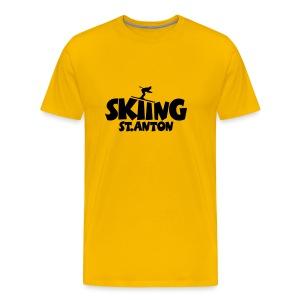 Skiing St. Anton T-Shirt (Herren Gelb/Schwarz) - Männer Premium T-Shirt