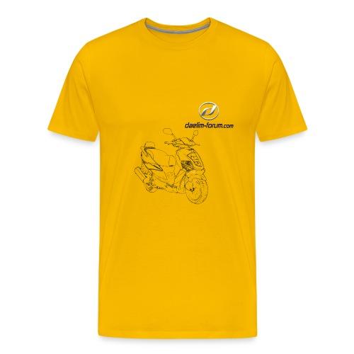 Daelim Otello Sport Zeichnung auf TShirt (mit Logo und Forum-URL) - Männer Premium T-Shirt