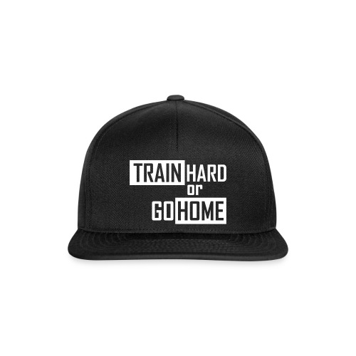 SKR cap train hard or go home - Snapback Cap