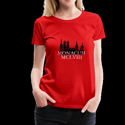 Monacum 1158 Skyline Vintage München T-Shirt (Damen) - Frauen Premium T-Shirt