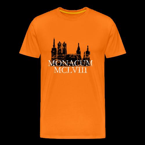Monacum 1158 Skyline Vintage München T-Shirt (Herren) - Männer Premium T-Shirt