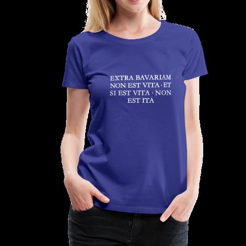 EXTRA BAVARIAM Bayern T-Shirt (Damen Blau/Weiß) - Frauen Premium T-Shirt
