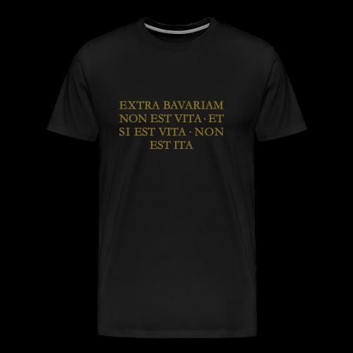 EXTRA BAVARIAM Bayern T-Shirt (Herren Schwarz/Gold) - Männer Premium T-Shirt