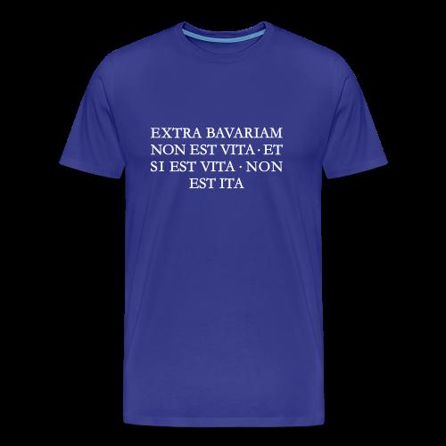 EXTRA BAVARIAM Bayern T-Shirt (Herren Blau/Weiß) - Männer Premium T-Shirt