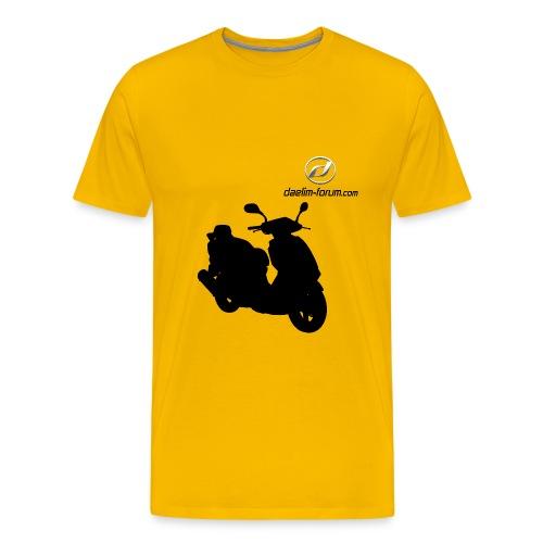 Daelim Otello Schattenriss auf TShirt (mit Logo und Forum-URL) - Männer Premium T-Shirt