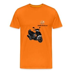 Daelim Otello Modell auf TShirt (mit Logo und Forum-URL) - Männer Premium T-Shirt