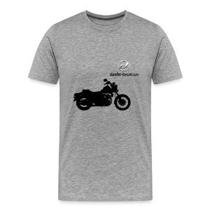 Daelim Daystar Schattenriss auf TShirt (mit Logo und Forum-URL) - Männer Premium T-Shirt