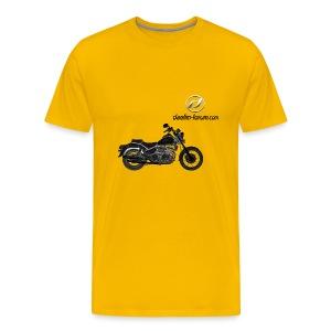 Daelim Daystar Modell auf TShirt (mit Logo und Forum-URL) - Männer Premium T-Shirt